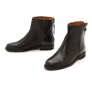 MADEWELL The Hayes Zip Back Flat Black Ankle Boots